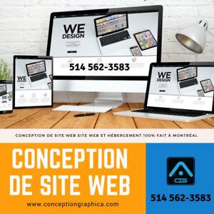 Conception site web, création site web, Website design Graphiste