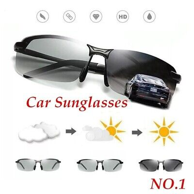 Photochromic HD Polarized Men Sunglasses Transition Len Outdoor Driving