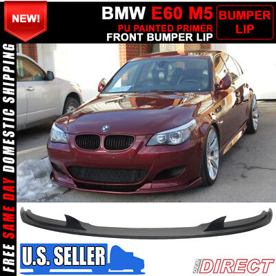 For 06-10 BMW E60 M5 Only H Style Front Bumper Lip Spoiler - PU