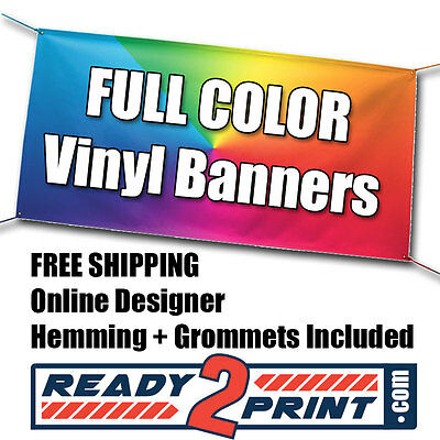 3 X 10 Full Color Custom Printed Banner 13oz Vinyl - Free Shipping