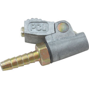Genuine PCL Tyre valve clip on connector open end 1/4 Hose tail - tyre inflator