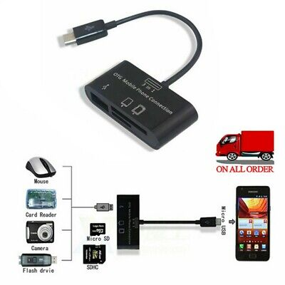 3in1 Card Reader SD-card/TF/SDHC OTG for SAMSUNG Android Phone Micro USB 2.0  Sdhc Card Usb
