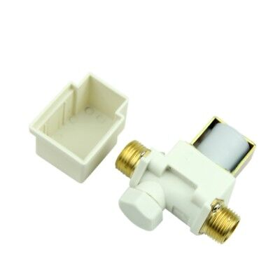 1pc 12 Electric Solenoid Valve For Ac 220v Water Air Nc Normally Closed