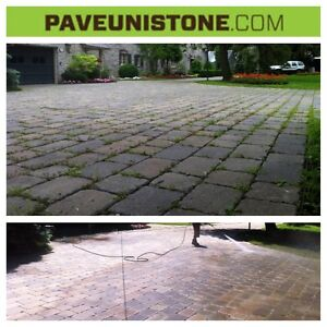DRIVEWAY CLEANING-HIGH PRESSURE CLEANING & MAINTENANCE OF PAVERS West Island Greater Montréal image 4