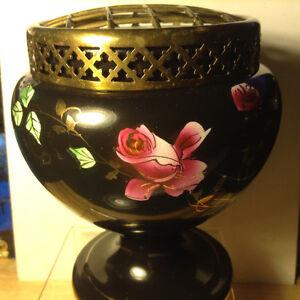 Vtg 1920-30 Art Deco Flower Frog Vase Flowers