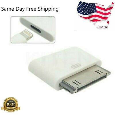 Lightning 8 Pin Female to 30 Pin Male Adapter for iPhone 4/4S iPod Touch (30 Pin Male To Lightning Female Adapter)