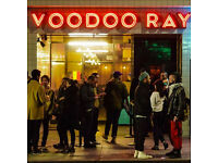 Experienced Pizza Chef for New Voodoo Ray's site in Camden!