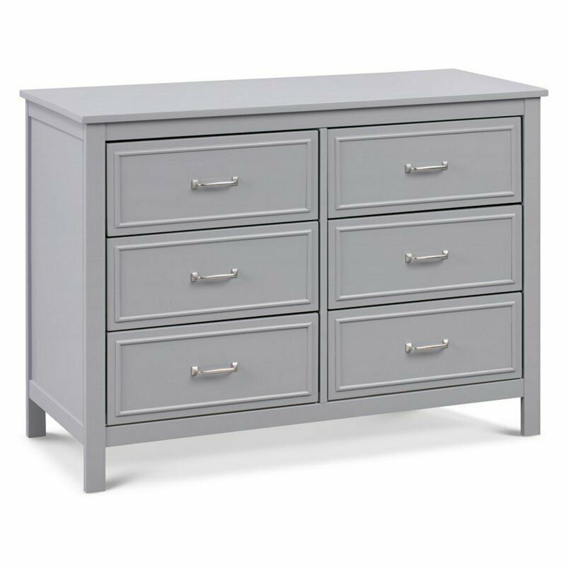 Davinci Charlie 6-Drawer Double Dresser in Gray