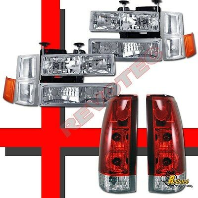 94-98 Chevy C10 C/K 1500 2500 3500 Silverado Headlights Bumper Set & Tail Lights