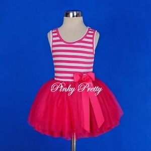 Striped-Cotton-Tulle-Girls-Dress-Easter-Summer-Party-Child-Size-2-7-Years-SD001