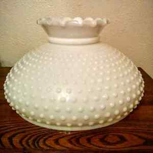 Hobnail Fenton Milk Glass Hanging Hurricane Light Lampshade Kitchener / Waterloo Kitchener Area image 1