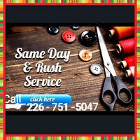 Alterations/Seamtress/Design/Redesign/Custom/Start at 6$ tax inc