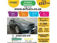 2016 GREY MERCEDES E220D 2.1 AMG LINE EDITION 2DR COUPE CAR FINANCE FR £257 PCM