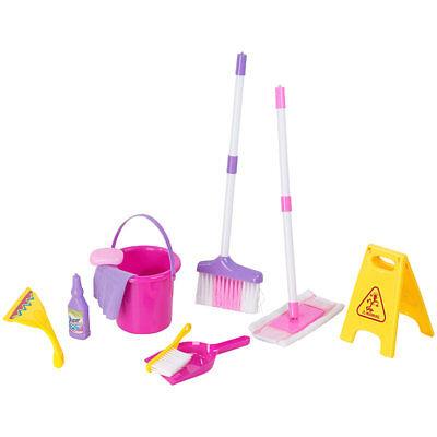 Putzset Kinder: Spielzeug-Putz-Set für Kinder, 10-teilig (Kinderbesen)