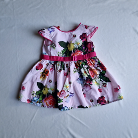 Baby girls 3-6 months ted baker dress pink flowers