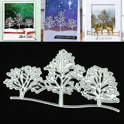 DIY Christmas Snow Tree Metal Cutting Dies Stencil Embossing Craft Paper Cards A