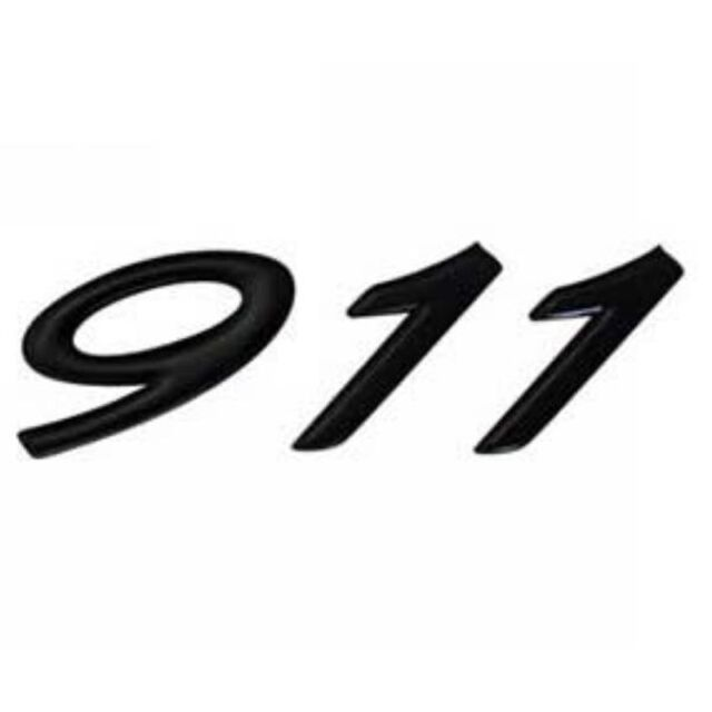 Genuine Porsche 911 Black Logo Badge Decal Ebay
