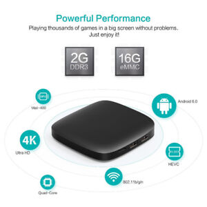 ANDROID TV BOX > 4K HD IPTV > 16GB > 2GB RAM > WIFI N >QUAD CORE