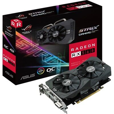 ASUS Radeon RX 560 ROG STRIX OC EVO Gaming GDDR5 4GB Grafikkarte PCI Express