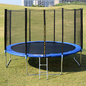 ≋W≋O≋W≋ ON SALE TRAMPOLINE 14 FT WITH LADDER & SAFETY NET