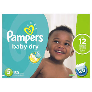 Pampers Baby Dry Diapers - Economy Size 5  (Quant- 160)