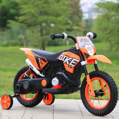 MOTO ELETTRICA PER BAMBINI MOTO CROSS RUOTE GONFIABILI 6V   ARANCIONE, usato usato  Arnone