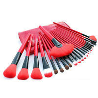 24 Pieces Make Up Brush Set - Red $19.99