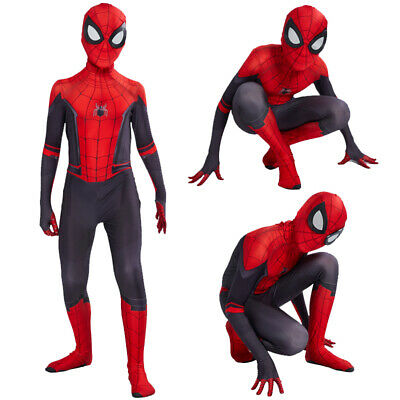 Spider-Man Far From Home Kids Boys Spiderman Zentai Child Cosplay Costume Suit](Spider Costumes)