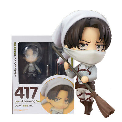 Anime Attack On Titan Nendoroid 417 Levi Cleaning Version PVC Action Figure