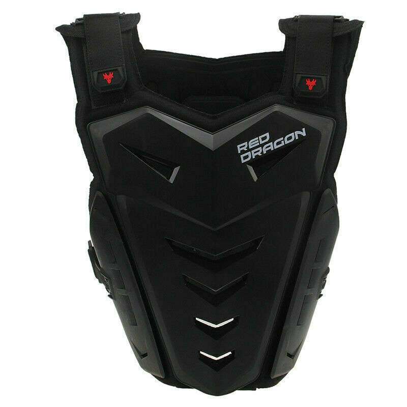 Motorcycle Vest Chest Back Street Dirt Bike Body Armor Knee Elbow Pads Guard