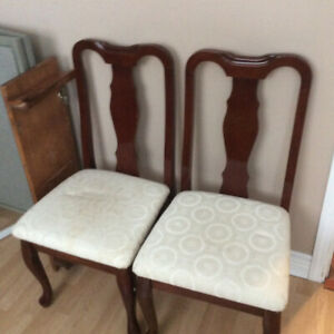 Two dining room chairs. As new