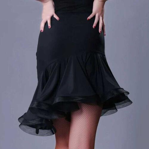 Latin Dancewear Ruffled Rumba Skirts Samba Salsa Practice Fishtail Dance Skirts