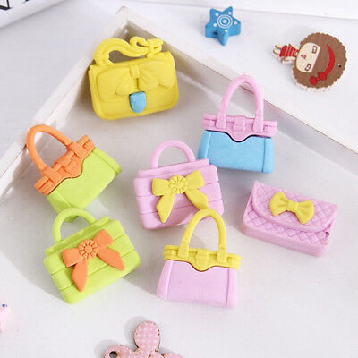 4Pcs Girls Bags Erasers Rubber Eraser Assorted Stationery School Study Gift 3D - 3d Erasers