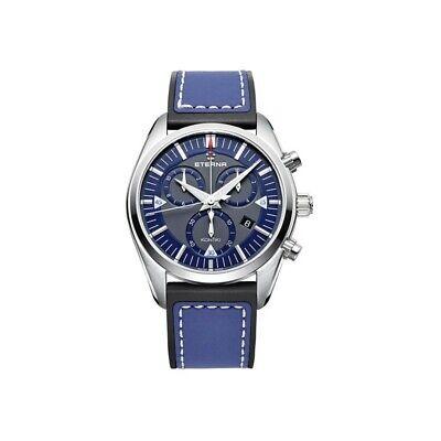 NEW Eterna Kontiki Swiss Made Quartz Leather Strap Watch 125041811303