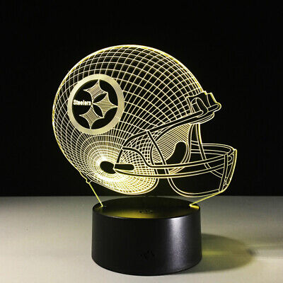 Pittsburgh Steelers Decorations (Pittsburgh Steelers Ben Roethlisberger LED Lamp Home Decor Gift Collectible)