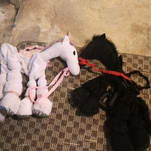 horse and unicorn kids play costumes or halloween