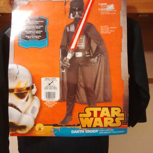 BRAND NEW Child's DARTH VADER costume, for age 3-4