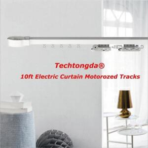 10ft Remote Control Electric Curtain Motorozed Tracks With Wall Swich and P&P 251243