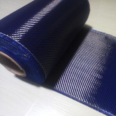 Made With Kevlar Blue Aramid Carbon Fiber Mixed Fabric 50cm 20 Wide 200gsm