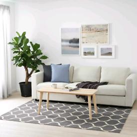 IKEA Stockholm 2017 Handmade Woven Rug   Grey   RRP £169