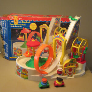 1994 FISHER PRICE LITTLE PEOPLE PARC D'ATTRACTIONS C2560 +BOITE