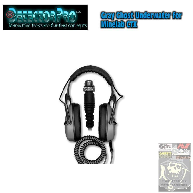 DetectorPro Gray Ghost Underwater Headphones for Minelab CTX 3030
