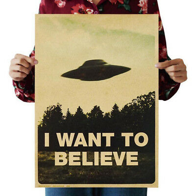 2017 Vintage Classic Poster  I Want To Believe  Wall Stickers Home Decor Gift