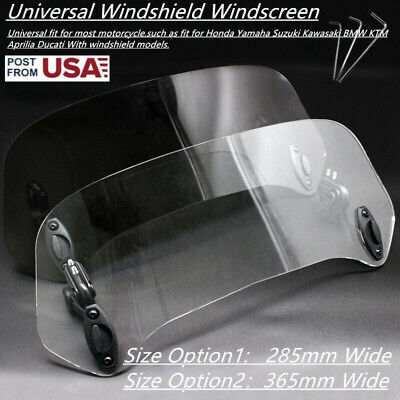 US Stock Universal Adjustable Clip On Windshield Extension WindScreen Deflector