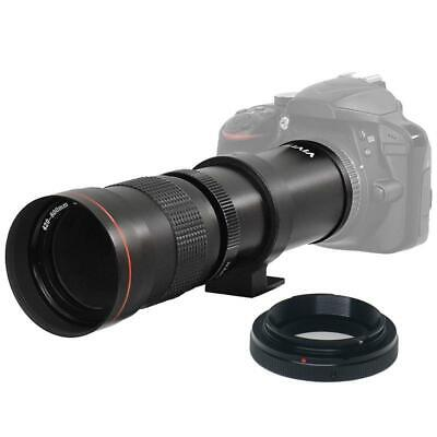 Vivitar 420-1600mm f/8.3 Telephoto Zoom Lens for Canon 80D 77D, 70D, T6i and T7i