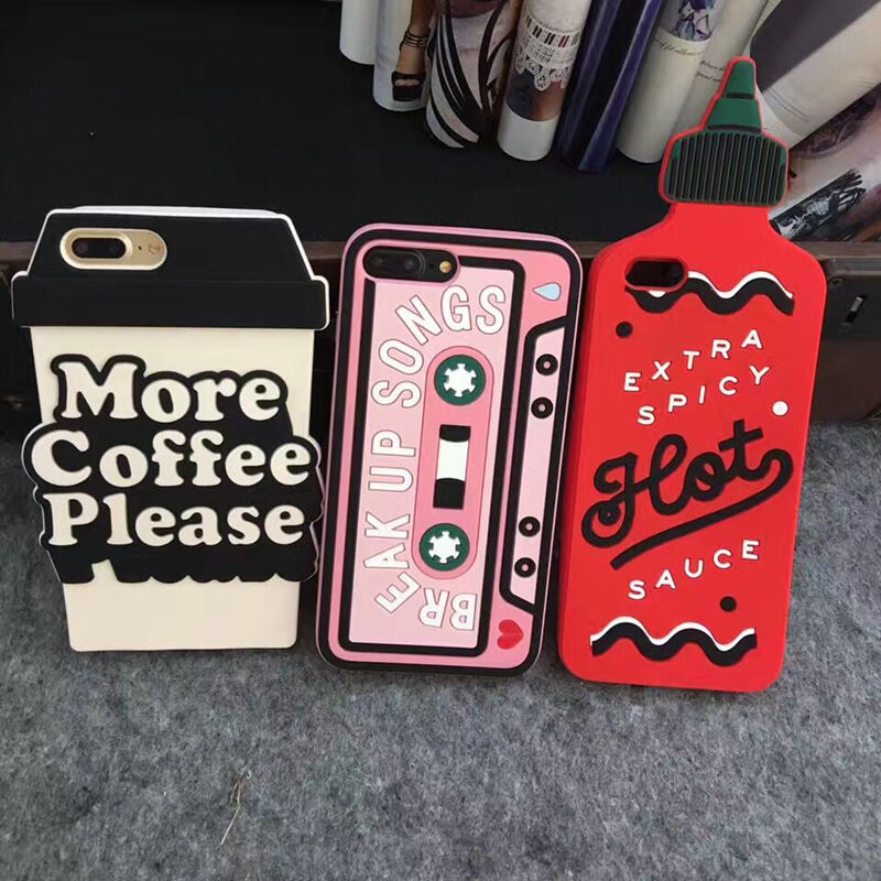 2019 3D Spicy Radio Tape Coffee Soft Phone Case Cover For iPhone X XS 6 7 8 Plus