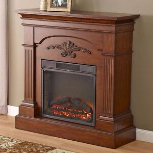 McLeland Design Florence Traditional Fireplace Mantle Oak, New