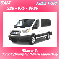 Free WiFi - Windsor To Toronto/Brampton Everyday At 7-AM