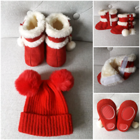BABY'S BOOTS AND HAT