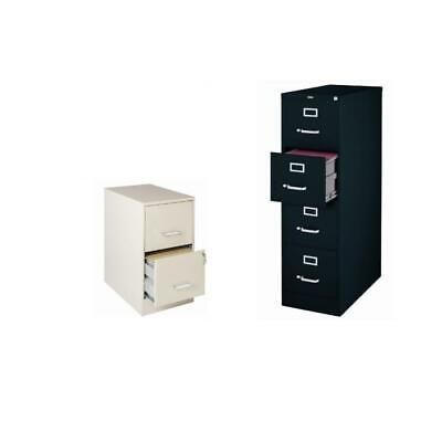 2 Piece Value Pack Drawer File Cabinets In Stone And Black